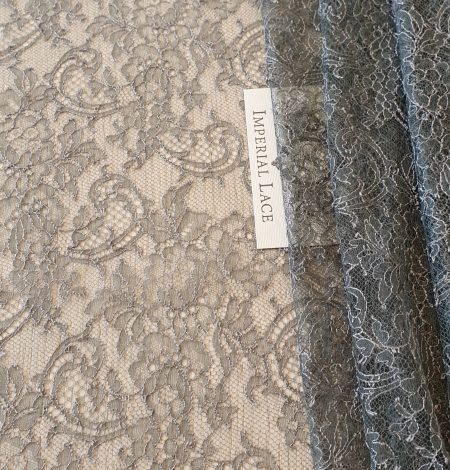 Anthracite lace fabric. Photo 1