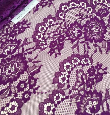 Violet lace fabric. Photo 8