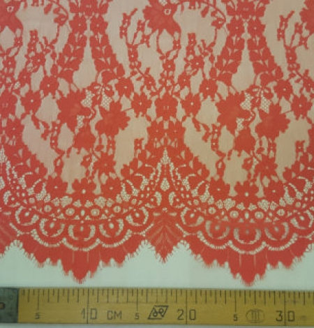 Orange Bloom lace fabric. Photo 4