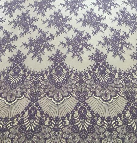 Lilac lace fabric. Photo 5