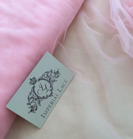 Baby pink tulle fabric. Photo 1