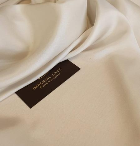 Light beige silk lining fabric. Photo 2