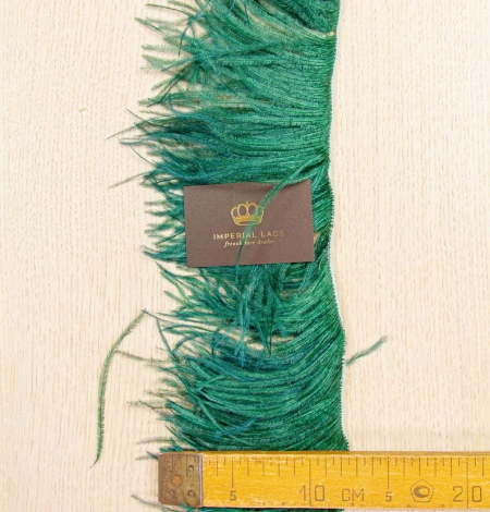 Dark green ostrich feather. Photo 7