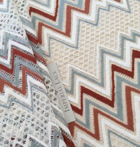 Multicolored lace fabric. Photo 2