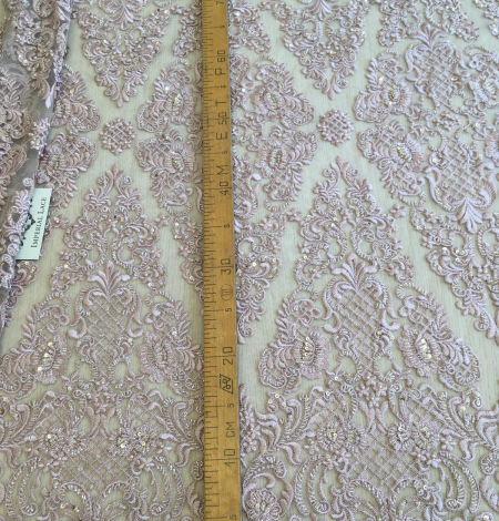 Old rose beaded lace . Photo 7