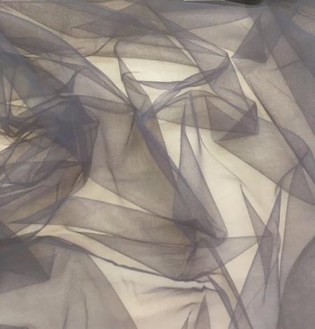 Grey tulle fabric. Photo 2