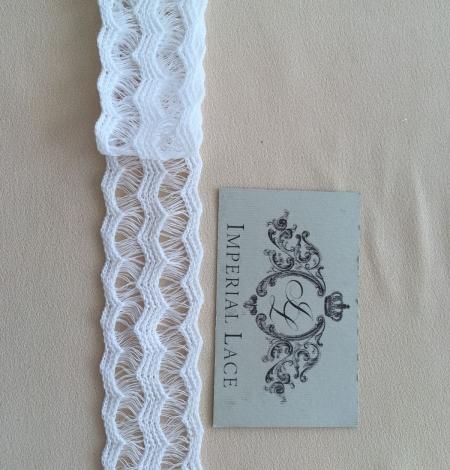 White lace cotton trim. Photo 5