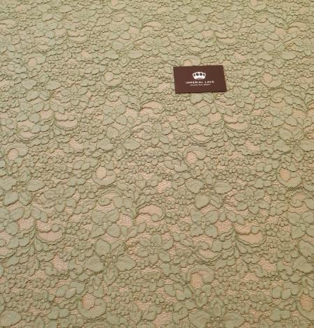 Light apple green guipure lace fabric. Photo 5