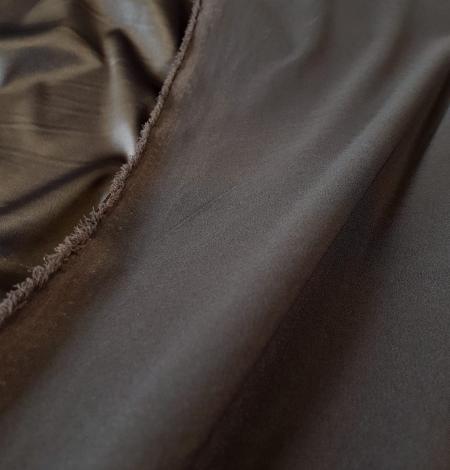 Dark grey satin fabric with elastane . Photo 2