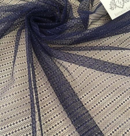 Dark blue tulle fabric. Photo 3