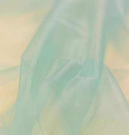 Laguna sea green soft tulle fabric from Italy. Photo 9