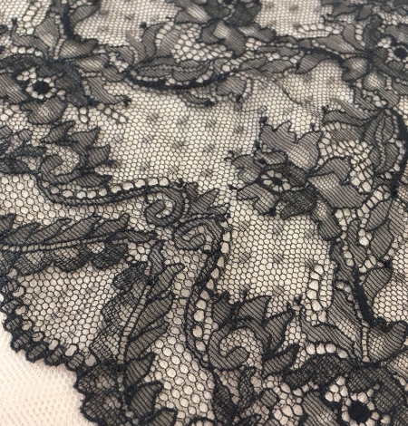 Black elastic lace trim. Photo 6