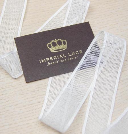 Off white mesh pattern lace trim. Photo 3