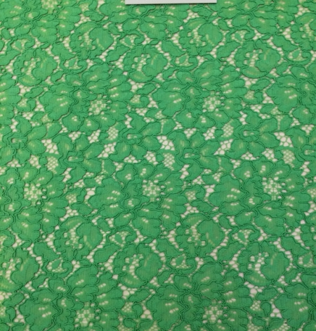 Apple Green Lace Fabric. Photo 2