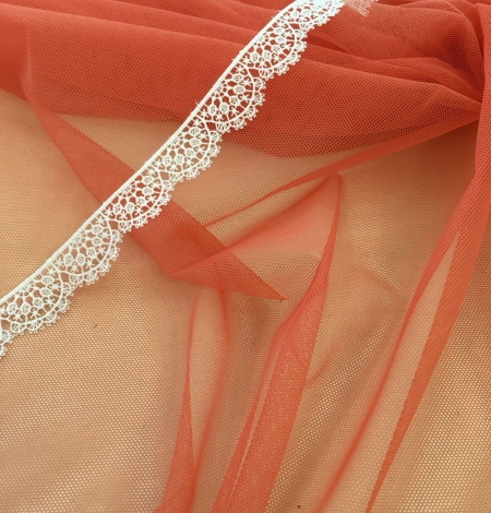 Orange tulle fabric. Photo 3