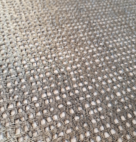 Metallic color guipure lace fabric . Photo 3