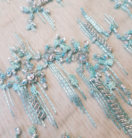 Sea green beaded lace. Photo 7