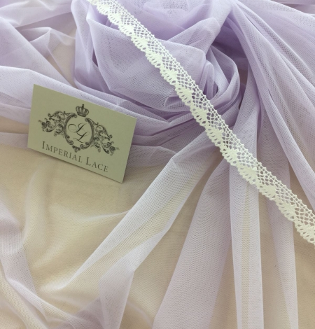 Lilac tulle fabric. Photo 2