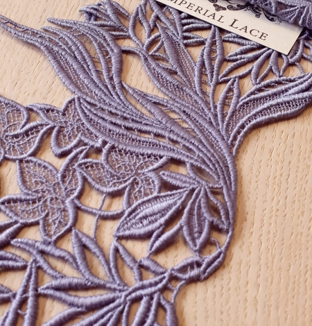 Lilac macrame lace trimming. Photo 1