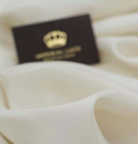 Beige silk lining fabric . Photo 4