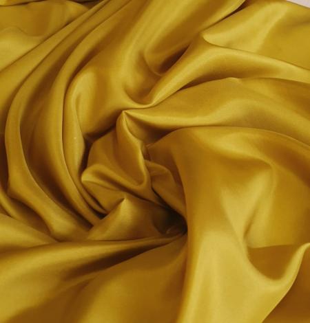 Mustard green silk lining fabric. Photo 9