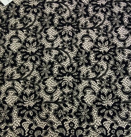 Black lace fabric . Photo 5