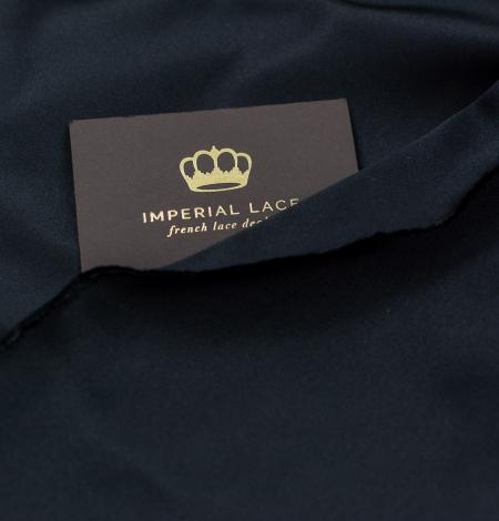 Black silk duchess fabric. Photo 10