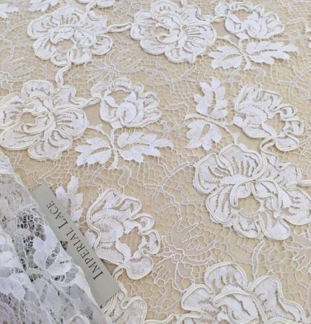 Ivory French lace fabric. Photo 3