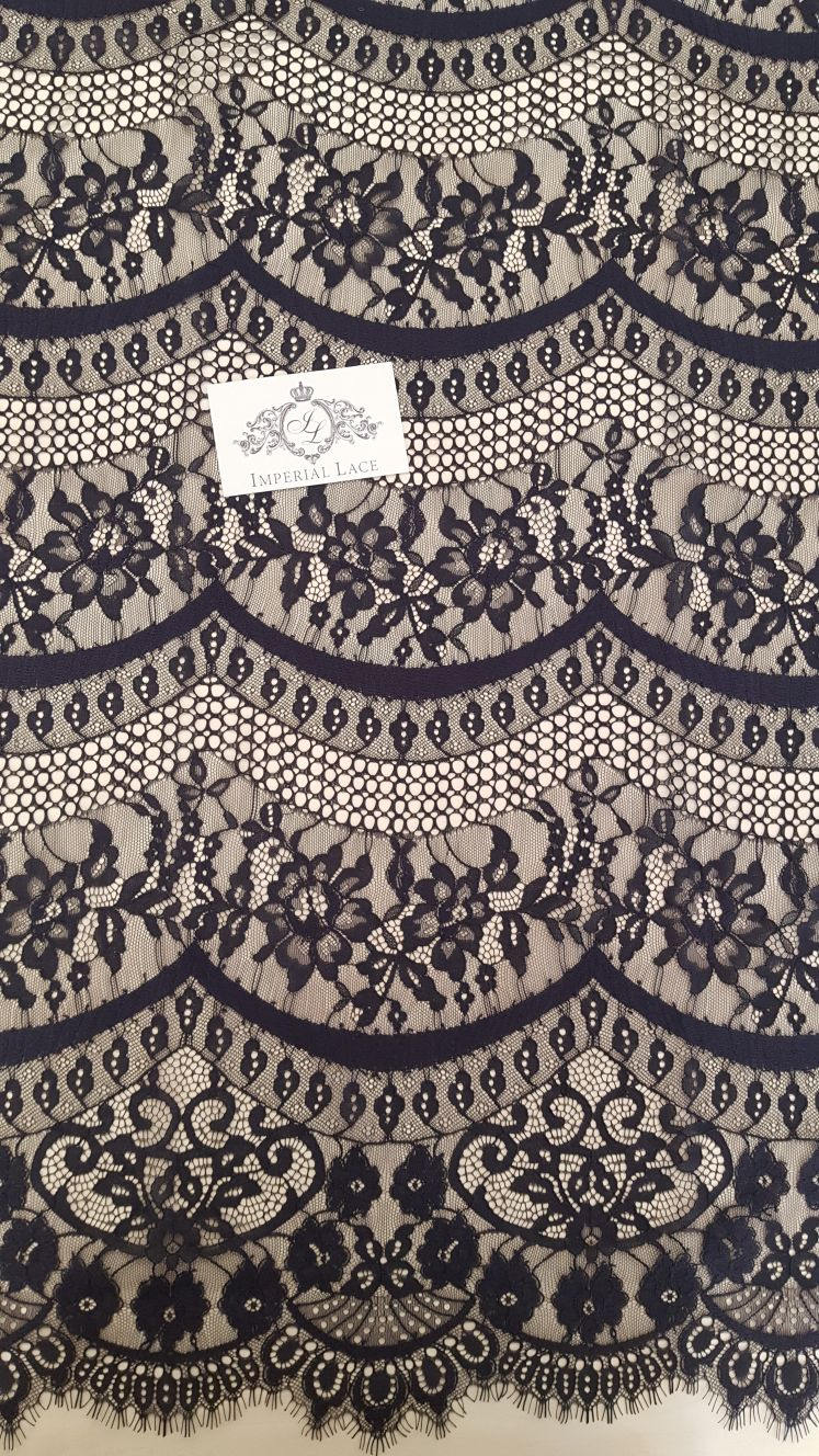Black Lace Fabric French Lace Alencon Lace Chantilly