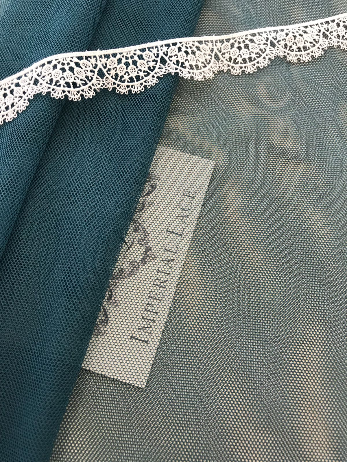 Dark Green Tulle Fabric Tulle Lace Fabric From