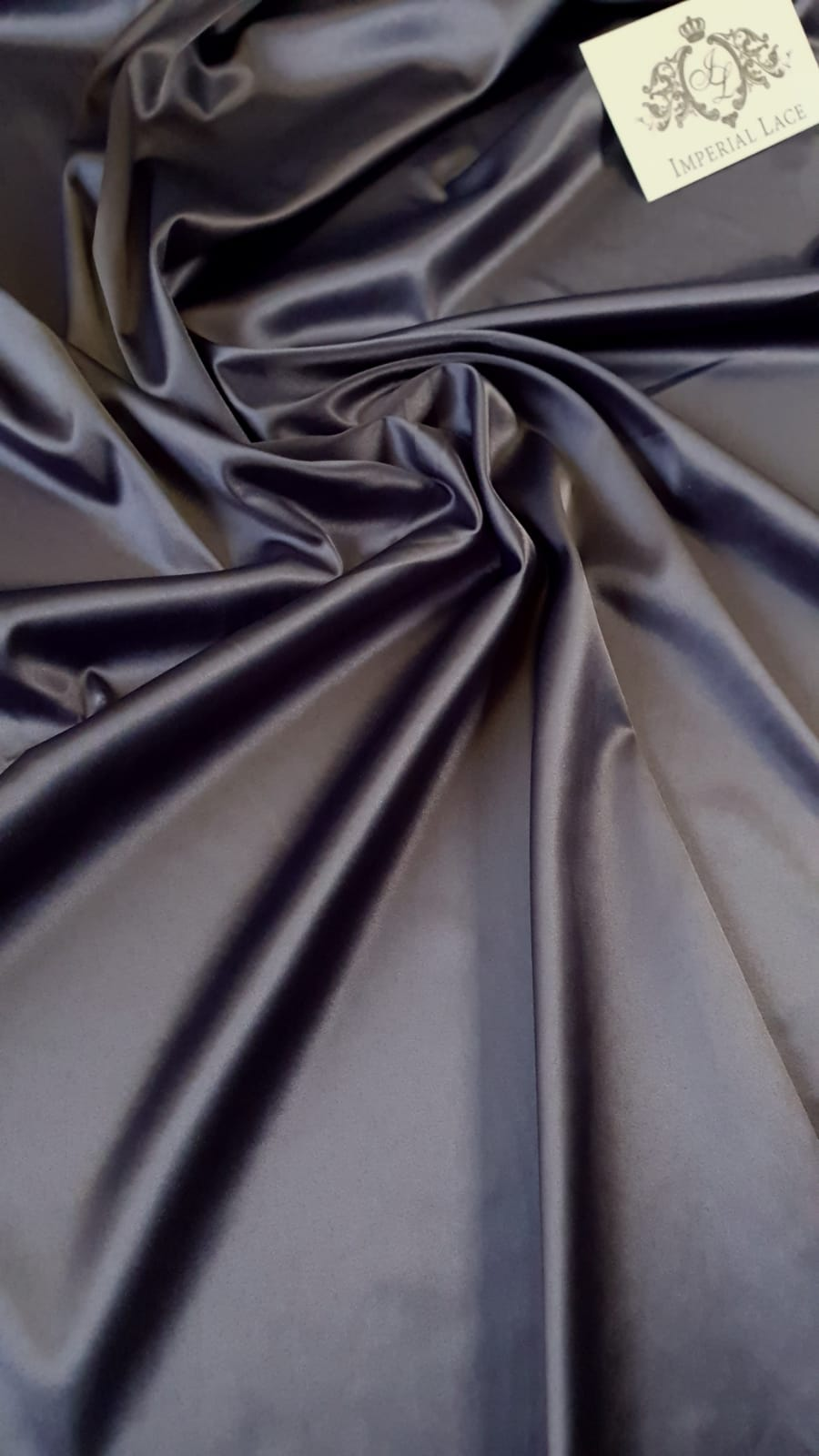 Dark Grey Satin Fabric With Elastane Silk Fabric Lace Fabric From Imperiallace Com