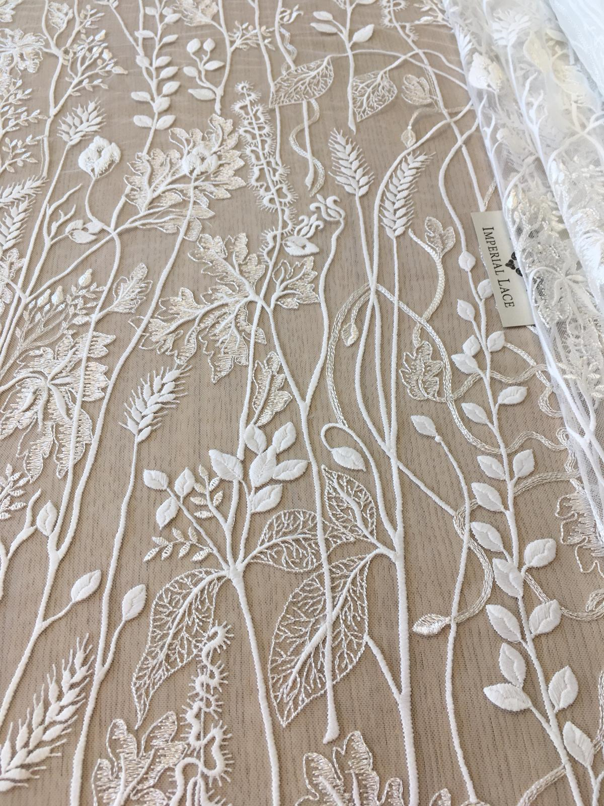 0.9x1.3 meter wide ivory mesh tulle gauze dress embroidered veil lace fabric cloth clothing G30E393P0927V free ship
